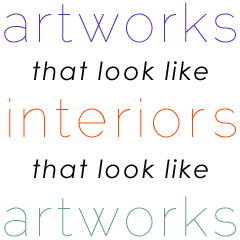 artworks that look like interiors that look like artworks